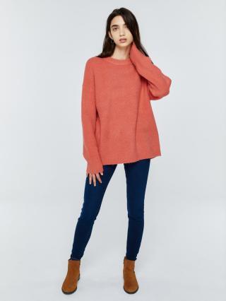 Big Star Womans Sweater 161985 Dark -602 dámské Pink L