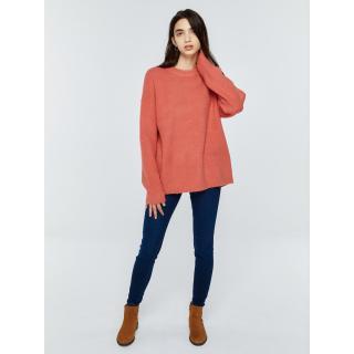 Big Star Womans Sweater 161985 Dark -602 dámské Pink XL