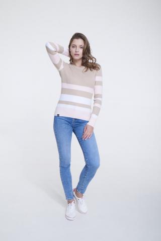 Big Star Womans Sweater 161998 Multicolour-0 dámské wzorzysty M