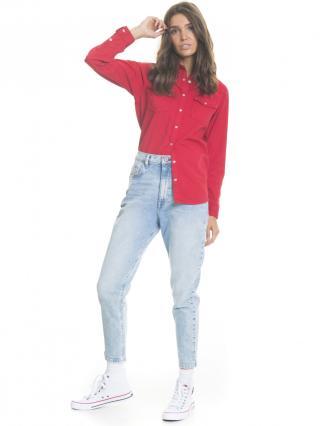 Big Star Womans Trousers 115583 Light Jeans-239 dámské Blue W29 L32