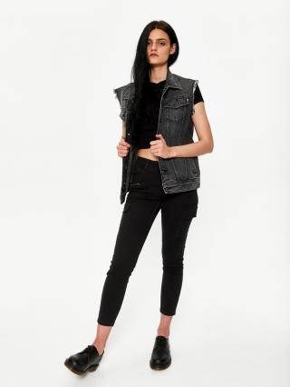 Big Star Womans Trousers 115594 -900 dámské Black W30