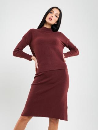 Big Star Womans Turtleneck Sweater 162009 Light -803 dámské Brown L