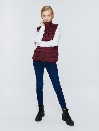 Big Star Womans Vest 131952 Burgundy-604 dámské Red S