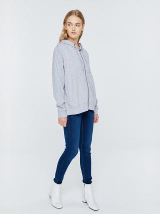 Big Star Womans Zip Hooded Sweatshirt 152523 -901 dámské Black XL