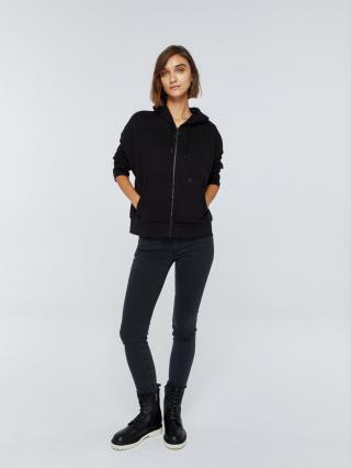 Big Star Womans Zip Hooded Sweatshirt 158795 -900 dámské Black S