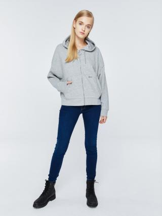 Big Star Womans Zip Hooded Sweatshirt 158795 Light -925 dámské Grey S