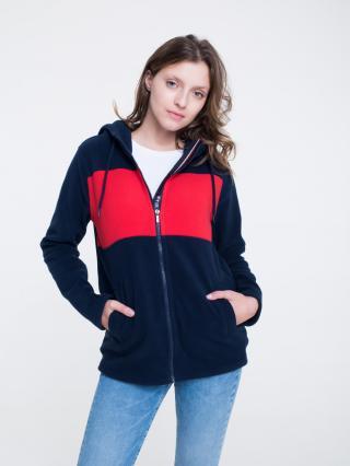 Big Star Womans Zip Hooded Sweatshirt 158885 -403 dámské Blue S
