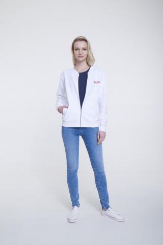 Big Star Womans Zip Sweatshirt 158850 -101 dámské Cream XXL