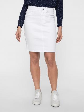 Bílá džínová pouzdrová sukně VERO MODA Hot Nine dámské M
