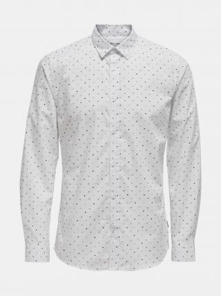 Bílá košile ONLY & SONS-Taylon pánské S