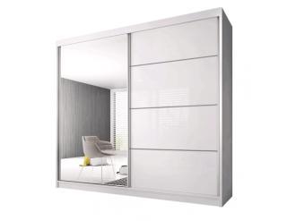 Bílá skříň s posuvnými dveřmi Tiler 1