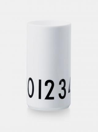 Bílá váza Design Letters