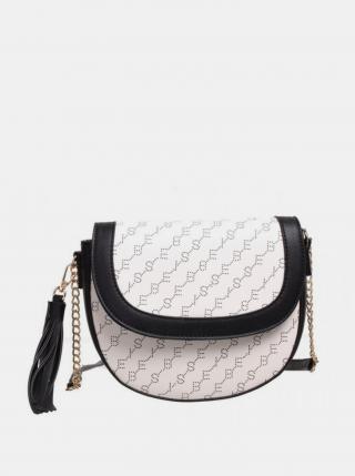 Bílá vzorovaná crossbody kabelka Bessie London dámské
