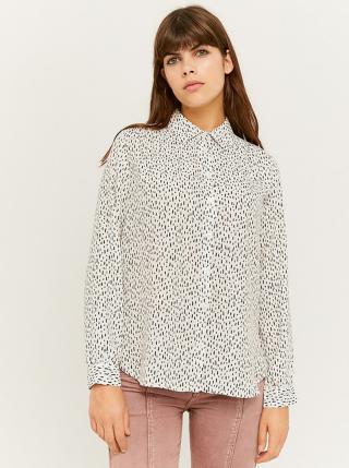Bílá vzorovaná košile TALLY WEiJL dámské XL