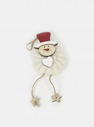 Bílá závěsná vánoční dekorace SIFCON červená