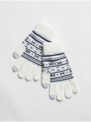 Bílé dámské rukavice GAP dámské bílá ONE SIZE
