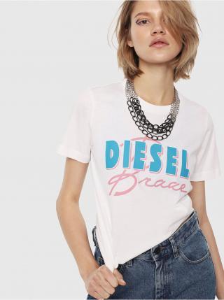 Bílé dámské tričko Diesel T-Silly dámské bílá S
