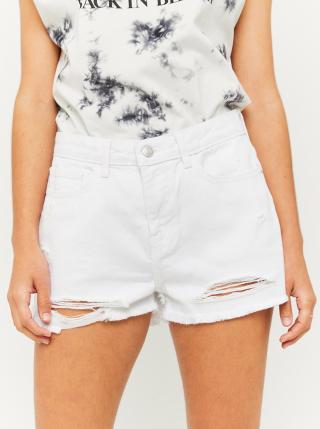 Bílé džínové kraťasy s potrhaným efektem TALLY WEiJL dámské bílá L