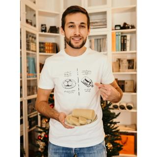 Bílé pánské tričko ZOOT Original Knedlík vs. nok pánské bílá S