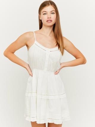 Bílé šaty s krajkovými detaily TALLY WEiJL dámské bílá XS