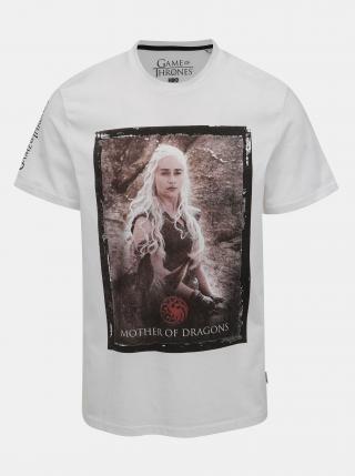 Bílé tričko ONLY & SONS Game of Thrones pánské bílá XL