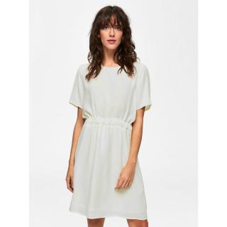 Bílé volné šaty se zavazováním v pase Selected Femme Tanna dámské bílá L