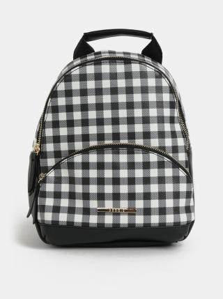 Bílo-černý kostkovaný batoh Bessie London dámské černá