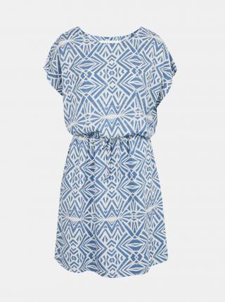 Bílo-modré vzorované šaty s kapsami ONLY Connie dámské modrá S
