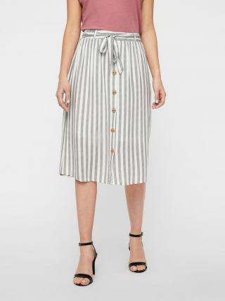 Bílo-šedá pruhovaná sukně AWARE by VERO MODA Hailey dámské M