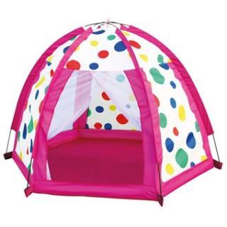 BINO Dětský stan barevné kuličky růžová