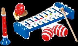 BINO Set hudebních nástrojů modrá