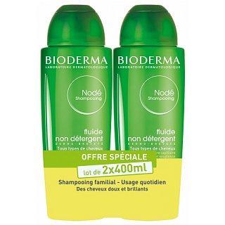 Bioderma Nodé Non-Detergent Fluid Shampoo nedráždivý šampon pro všechny typy vlasů 2 x 400 ml