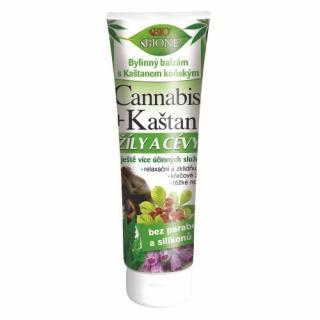 Bione Cosmetics Bylinný balzám s Kaštanem koňským na žíly a cévy Cannabis 200 ml
