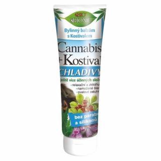 Bione Cosmetics Bylinný balzám s Kostivalem chladivý Cannabis 200 ml