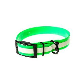 Biothanový obojek neonový - zelený, šířka 25 mm, obvod 50 cm