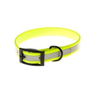 Biothanový obojek reflexní Beta - žlutý, šířka 19 mm, obvod 50 cm