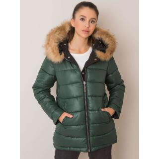 Black and green reversible parka jacket dámské Neurčeno M