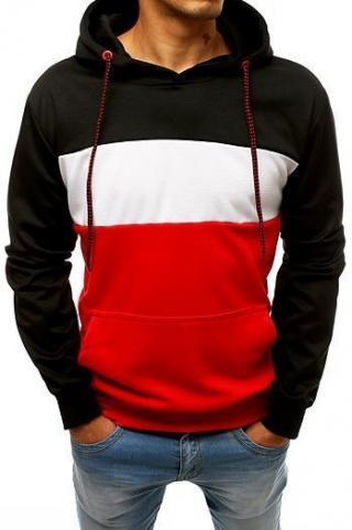 Black and red mens hoodie BX3949 pánské Neurčeno XXL