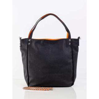 Black bag with a decorative strap dámské Neurčeno One size