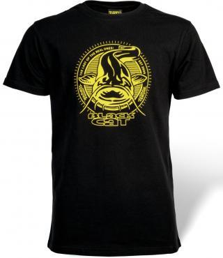Black cat triřko established collection t-shirt - velikost l