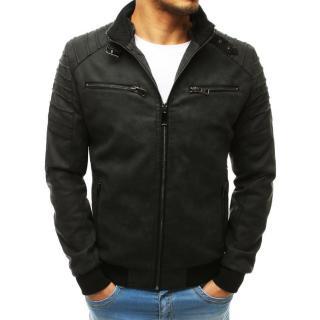 Black mens leather jacket Dstreet TX3669 pánské Neurčeno S