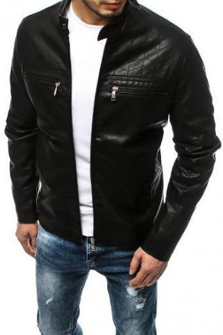 Black mens leather jacket TX3154 pánské Neurčeno XXL