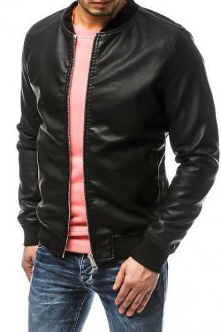 Black mens leather jacket TX3158 pánské Neurčeno XXL