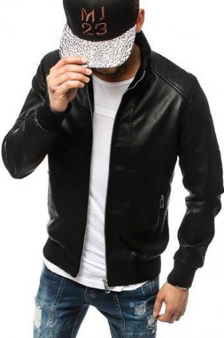 Black mens leather jacket TX3159 pánské Neurčeno XXL