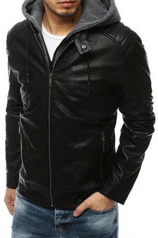 Black mens leather jacket TX3198 pánské Neurčeno XXL