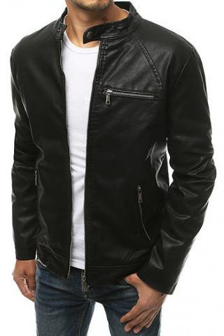 Black mens leather jacket TX3435 pánské Neurčeno M