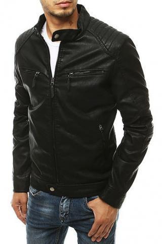 Black mens leather jacket TX3453 pánské Neurčeno XXL
