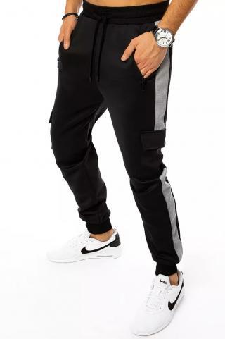 Black mens sweatpants Dstreet UX3183 pánské Neurčeno M