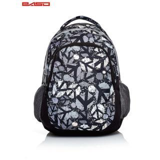Black school backpack with city print Neurčeno One size