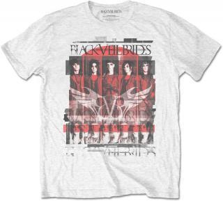 Black Veil Brides Unisex Tee Group Scatter L White L